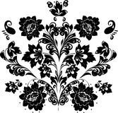 Black symmetric design of foliage Stock Photos