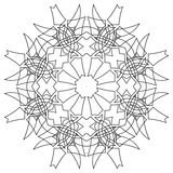 Black symmetric mandala Stock Photo
