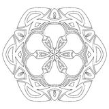 Black symmetric mandala Royalty Free Stock Images
