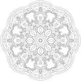 Black symmetric mandala Royalty Free Stock Photo
