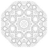 Black symmetric mandala Royalty Free Stock Image