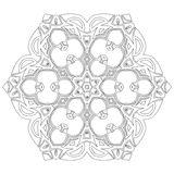 Black symmetric mandala. Like a adult coloring page Stock Photography