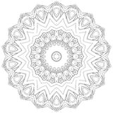 Black symmetric mandala Stock Images