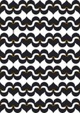 Black synergy of love. Tiled swans and hearts visualizing the synergy of being together and being in love Stock Photo