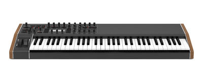 Black synthesizer isolated on white Royalty Free Stock Photo