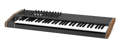 Black synthesizer isolated on white Stock Photos