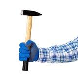 black tła młota ręka występować samodzielnie Fotografia Stock