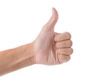 black tła pojedynczy kciuk, Zdjęcie Royalty Free