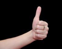 black tła pojedynczy kciuk, Zdjęcia Royalty Free