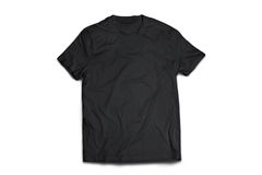 Black T-shirt. Classic Black shirt on a dark background Royalty Free Stock Images