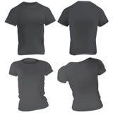 Black T-Shirt Design Template Stock Image