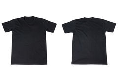 Black T-Shirt Isolated on White Royalty Free Stock Photos