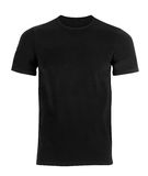 Black t-shirt. Isolated on white background royalty free stock photo