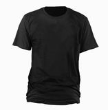 Black t-shirt template. USE FOR LAYOUT, DESIGN, & BACKGROUND Royalty Free Stock Image
