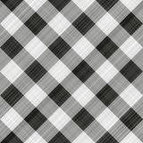 Black table cloth. Seamless texture of black, grey and white blocked tartan cloth Royalty Free Stock Images
