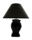 Black Table Lamp Stock Image