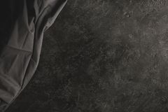 Black tablecloth Stock Image