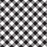 Black tablecloth diagonal seamless pattern Stock Photo