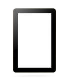Black tablet with blank screen. For template isolated Stock Images