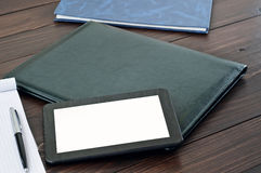 Free Black Tablet Computer At An Office Table Close Up Royalty Free Stock Images - 62108839