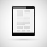 Black tablet computer for template. Vector illustration Royalty Free Stock Image