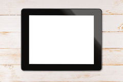 Black tablet computer Stock Photo