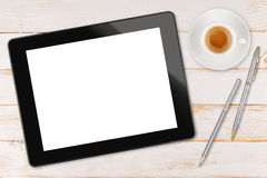 Black tablet computer Stock Images