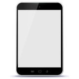 Black Tablet Computer Vector Illustration. Royalty Free Stock Photography