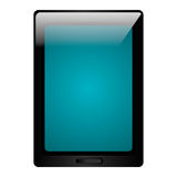 Black tablet electronic device icon. Stock Photography