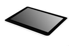 Black tablet pc Royalty Free Stock Image