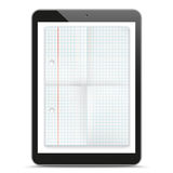 Black Tablet PC Checked Folded Paper Mockup Royalty Free Stock Photo