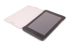 Black tablet PC isolated on white background (Clipping path) Royalty Free Stock Image