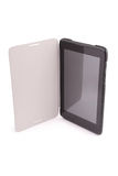 Black tablet PC isolated on white background (Clipping path) Stock Images