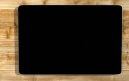 Black tablet PC Royalty Free Stock Photography