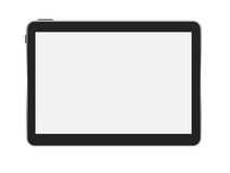 Black Tablet PC Vector Illustration Stock Photo
