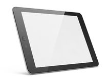 Black tablet pc on white background Stock Photo