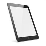Black tablet pc on white background. High-detailed black tablet pc on white background, 3d render Royalty Free Stock Photography