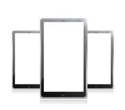 Black tablets pc illustration design Stock Photos