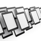 Black tablets on white background. 3d render. Just place your images on the screens Royalty Free Stock Image
