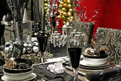 Black tableware stock photos
