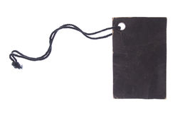 Black Tag(with clipping path) Stock Photo