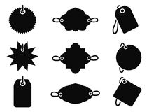 Black tag icons Royalty Free Stock Photos