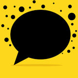 Black talk bubble minimalist background Stock Photo