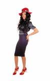 Black tall woman. Stock Photos