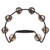 Black Tambourine isolated on white background Stock Photos