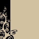 Black & Tan. Swirly background. Illustration Stock Image