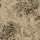 Black and Tan Floral Fabric Royalty Free Stock Photography