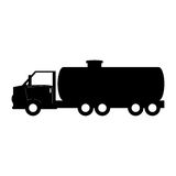 Black tank car for gasoline image. Illustration design Stock Images