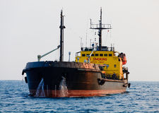 Black tanker Stock Image