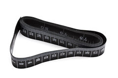 Black tape measure Royalty Free Stock Images